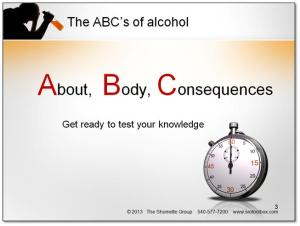 Free fun and interactive PowerPoint for teaching teens about the consequences of underage possession of alcohol.