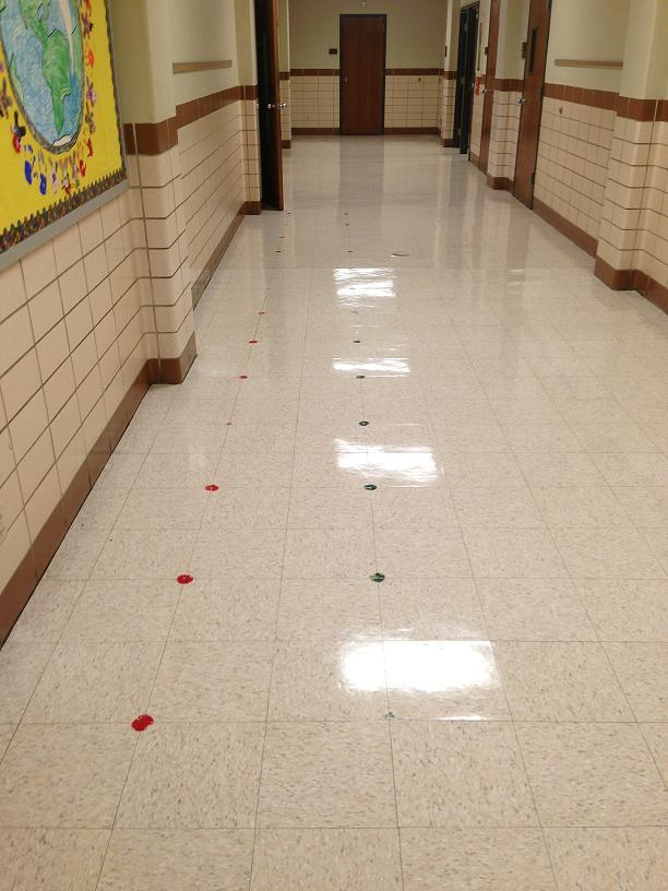 dots on ground