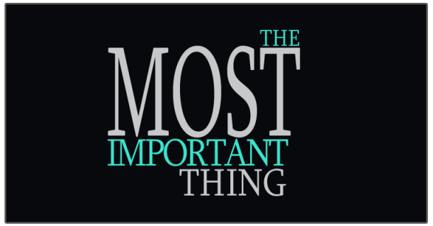 most-important-thing